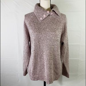 KAREN SCOTT WOMEN SIZE XL BUTTON NECK KNIT SWEATER